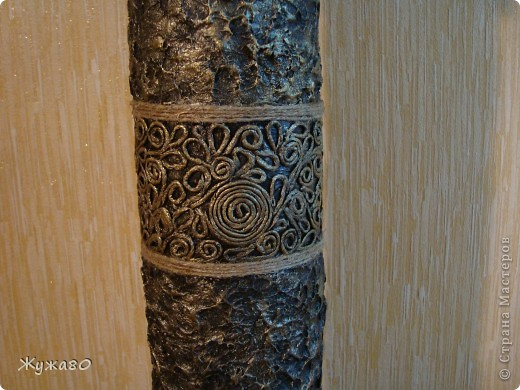 Ваза,навеянная чудными работами Тани Сорокиной. За основу взята труба из-под линолеума. фото 3