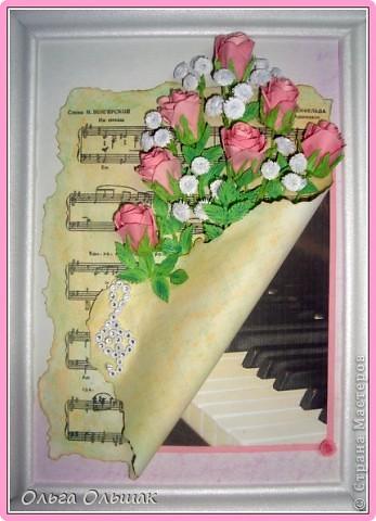 Выросли у меня теперь и розовые розы, конечно  по МК Астории http://asti-n.ya.ru/posts.xml?tag=2023576 Сделала на этот раз из 3 заготовок,получились бутончики,не сильно распустившиеся. фото 2