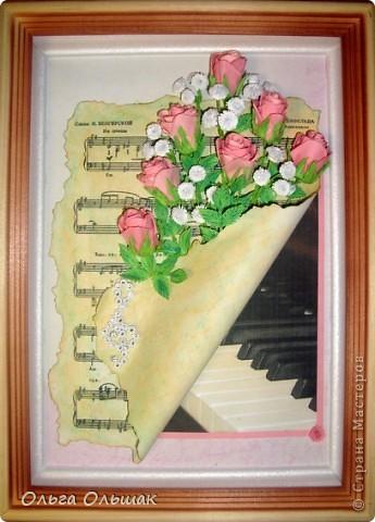 Выросли у меня теперь и розовые розы, конечно  по МК Астории http://asti-n.ya.ru/posts.xml?tag=2023576 Сделала на этот раз из 3 заготовок,получились бутончики,не сильно распустившиеся. фото 6
