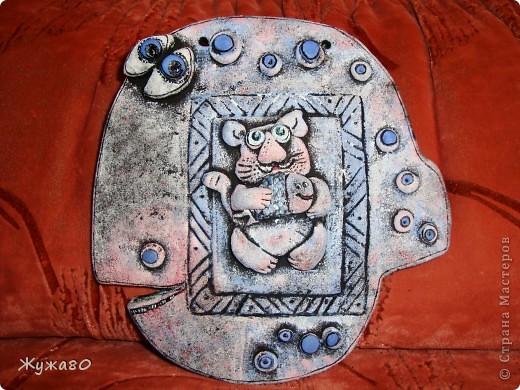 """Это мои первые работы -повторюшки из соленого теста ...Вдохновителями были талантливейшая ANAID, сайт """"Цветная Рыба"""" и великолепный художник Елена Разина,за что им огромнейшая благодарность и мои восхищения! фото 6"""