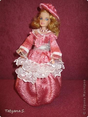 Насмотревшись на работы многих мастеров, решила попробовать сделать куклу-шкатулку. Вот такая получилась шкатулочка! фото 1