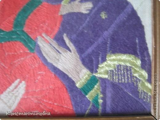 вышивка гладь Владимирская икона Божией Матери  фото 3