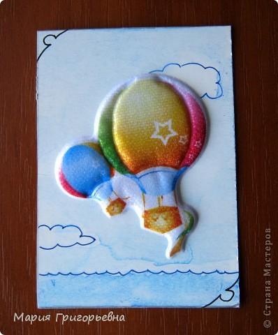 Путешествие к морю и поход с палатками вдохновил на создание серии карточек. Материал - обьемная наклейка на моем рисунке разведенной гуашью и тушью пером. фото 2