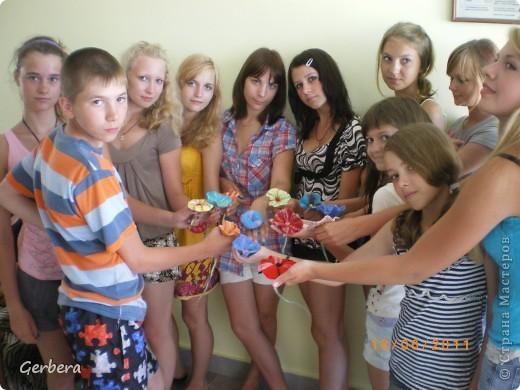 Занятия по валянию в детском лагере, нравится не только девочкам)))) фото 1