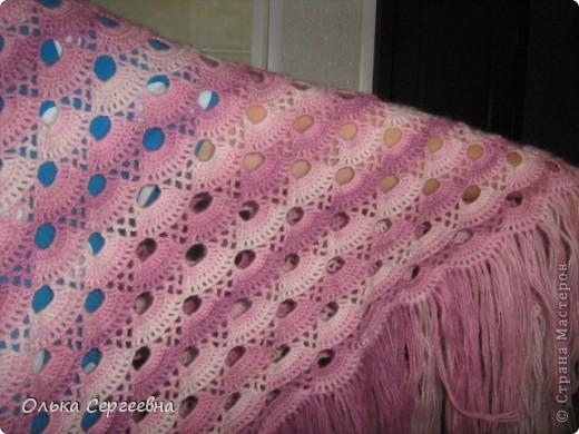 Связалась вот такая шаль. Размер 170*85 см без кистей. Кисти 22 см. фото 3