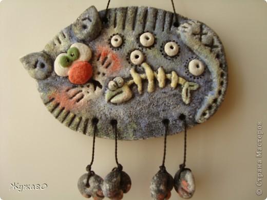 """Это мои первые работы -повторюшки из соленого теста ...Вдохновителями были талантливейшая ANAID, сайт """"Цветная Рыба"""" и великолепный художник Елена Разина,за что им огромнейшая благодарность и мои восхищения! фото 10"""