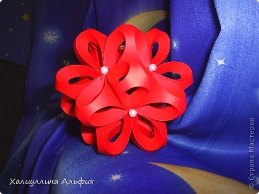 За идею и хороший МК благодарю пользователя сайта elenag. Вот ссылка на ее публикацию мастер-класса: http://stranamasterov.ru/node/24872?c=favorite А вот ссылка на шаблоны для вырезки заготовок: http://jeweledplatypus.org/pixels/other/icosahedron-template.pdf фото 3