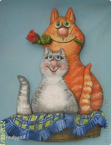 Добрый день ВСЕМ!! Представляю на ваш суд своих котиков. Сифирия как то делала мышек по рисункам Льва Бортенева, и я, просмотрев его котов и мышей, воспроизвела в тесте один рисунок чуть его изменив. фото 1