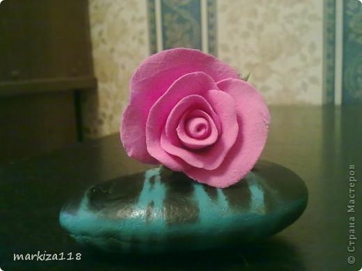 Букетик из японской глины. фото 7