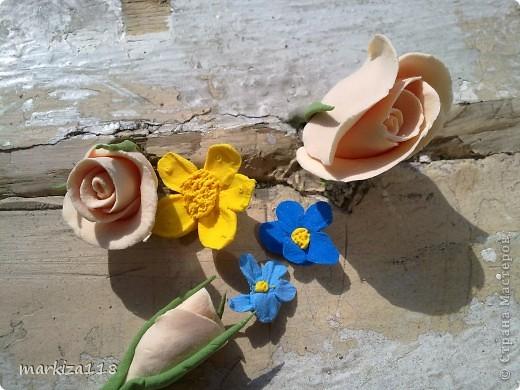 Букетик из японской глины. фото 9