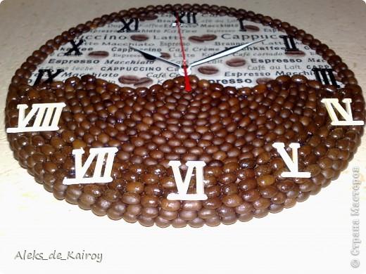 """Вот готова ещё одна моя работа)) Часы """"Кофейная История"""" фото 3"""