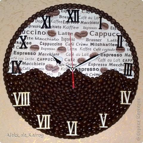 """Вот готова ещё одна моя работа)) Часы """"Кофейная История"""" фото 1"""