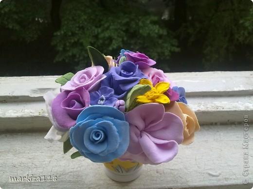Букетик из японской глины. фото 3