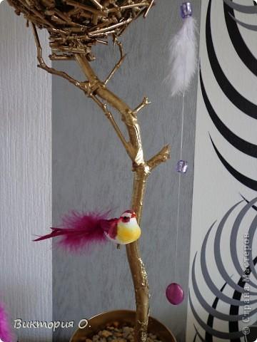 """Ура!!! Теперь у меня тоже есть дерево счастья!!! Т.к. это мое первое деревце, то опытные мастера и мастерицы найдут какие-то огрехи, но для меня и это- """"высший пилотаж"""". Если есть что посоветовать- буду рада. фото 4"""