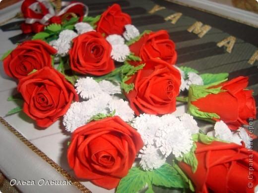 """Последний """"музыкальный"""" подарок готов!На этот раз с красными розами. фото 2"""