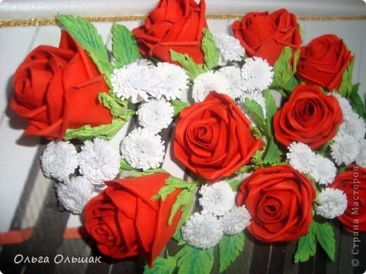 Розы из цветной бумаги своими руками букет