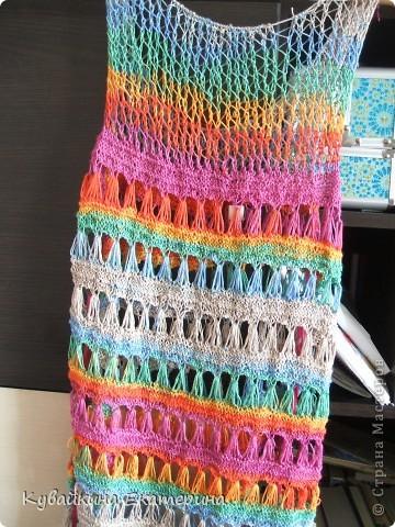 Связала новый свитерок для себя, рукав 3/4))) Нитки 100% акрил, спицы 3.5 фото 5