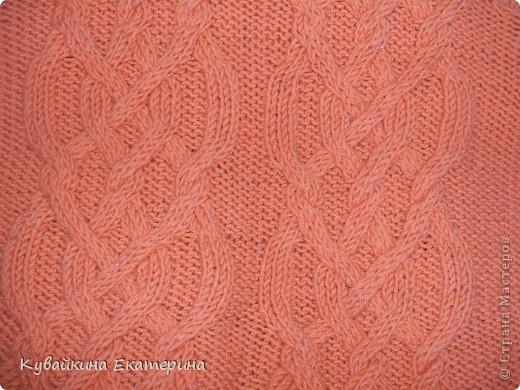 Связала новый свитерок для себя, рукав 3/4))) Нитки 100% акрил, спицы 3.5 фото 3
