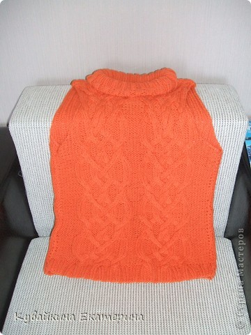 Связала новый свитерок для себя, рукав 3/4))) Нитки 100% акрил, спицы 3.5 фото 2