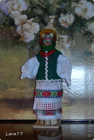 Эти куклы сделаны по мотивам старинных народных украинских обереговых кукол- мотанок. фото 3