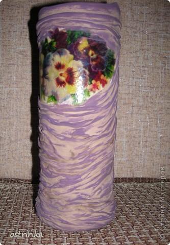 Такую вазочку я соорудила для своей мамы в подарок.  фото 7