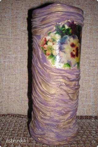 Такую вазочку я соорудила для своей мамы в подарок.  фото 8