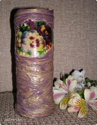 Такую вазочку я соорудила для своей мамы в подарок.  фото 9