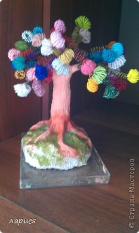 Моё первое дерево,ствол из глины фото 1