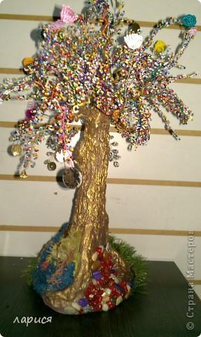 Моё первое дерево,ствол из глины фото 4