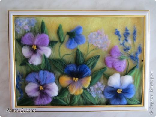 Я рисую цветы шерстью 193