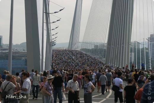 УРА! Во Владивостоке открыли мост через Золотой Рог. На выходные (11 и 12 августа) его открыли только для пешеходов, а с понедельника по нему уже пустили автомобили. фото 6