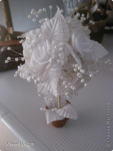 Свадебное деревце. Высота 15 см.  фото 1