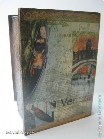 """Старая-старая книга о путешествиях..Берем лобзик и МДФ-выпиливаем заготовку,идем в магазин ,покупаем крепление и думаем...шурупчики торчат на """"корешке книги"""".. фото 6"""