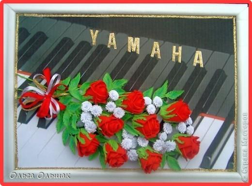 """Последний """"музыкальный"""" подарок готов!На этот раз с красными розами. фото 1"""