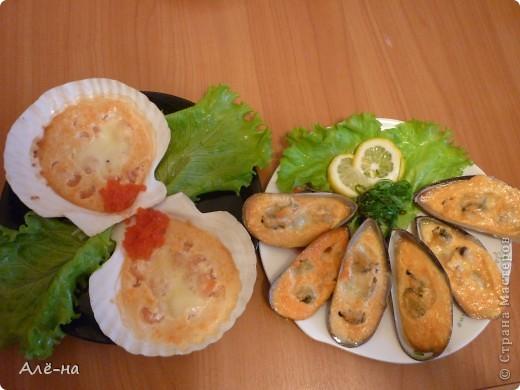 Запеченные мидии я попробовала в японском ресторане. Очень мне понравилось и я решила приготовить нечто подобное дома. Как оказалось ничего сложного нет. Все очень легко и быстро. Да , забыла совсем .....и очень вкусно))) фото 15