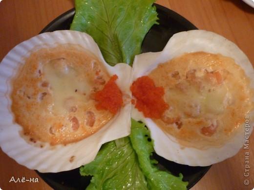 Запеченные мидии я попробовала в японском ресторане. Очень мне понравилось и я решила приготовить нечто подобное дома. Как оказалось ничего сложного нет. Все очень легко и быстро. Да , забыла совсем .....и очень вкусно))) фото 2