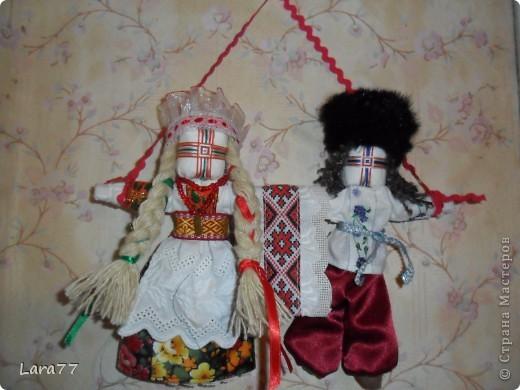 Эти куклы сделаны по мотивам старинных народных украинских обереговых кукол- мотанок. фото 8