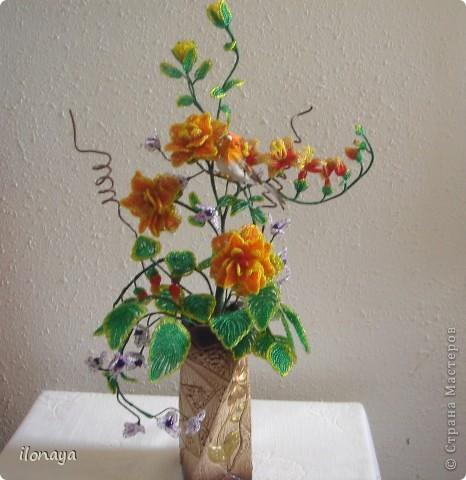 Декор предметов Бисероплетение Цветы из бисера Бисер фото 2.