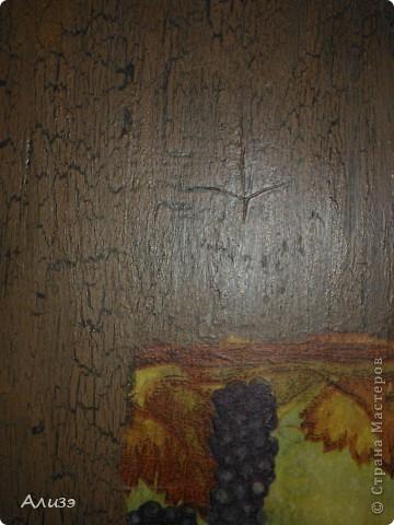 Мой первый опыт в декупаже и кракелюре, подарок папе..да. да именно папе. Он эту доску с работы притащил отшлифовал идеально - специально для мяса для шашлыка, а как увидел сказал что это картина и ему нужна новая доска ))) фото 2