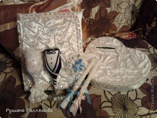 Мой наборчик на свадьбу. Первый опыт. Бокалы, книга пожеланий, короб, ленты свидетелей и рукав на свечи фото 1