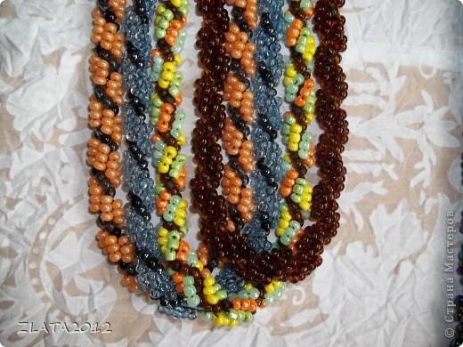 Ожерелье из бисера (жгут) фото 2