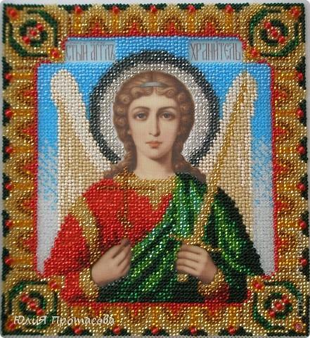 Решилась вышить образ Ангела хранителя своему сыну на два года.  фото 1