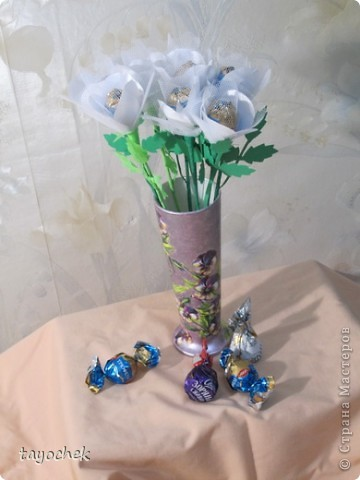 Такие цветы из шелка и фатина заказали на свадьбу в качестве призов за конкурсы для гостей фото 1