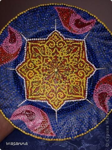 Восточные мотивы (декоративная тарелка-панно) фото 1
