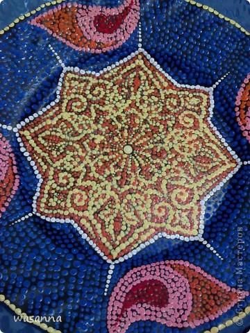 Восточные мотивы (декоративная тарелка-панно) фото 2