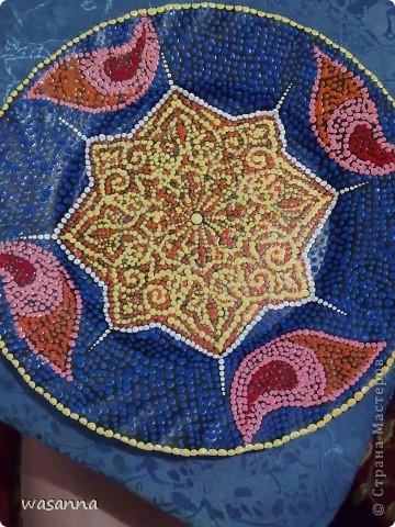 Восточные мотивы (декоративная тарелка-панно) фото 3