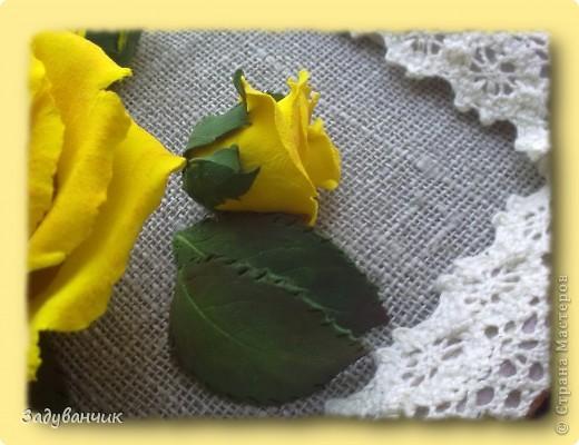 Панно, роза из самоотвердевающей глины фото 7