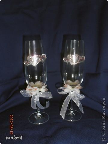 бокалы на свадьбу для брата, с личиком жениха и невесты. фото 2