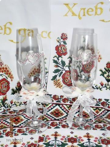 бокалы на свадьбу для брата, с личиком жениха и невесты. фото 3