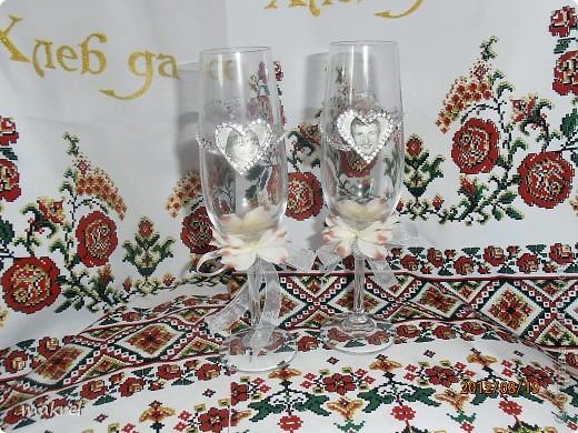 бокалы на свадьбу для брата, с личиком жениха и невесты. фото 1